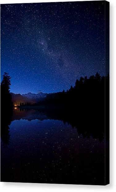 Fox Glacier Canvas Print - Stars by Ng Hock How