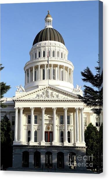 Arnold Schwarzenegger Canvas Print - State Of California Capitol Building . 7d11736 by Wingsdomain Art and Photography