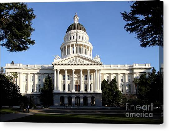 Arnold Schwarzenegger Canvas Print - State Of California Capitol Building . 7d11746 by Wingsdomain Art and Photography
