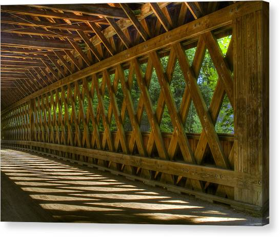 State Road Covered Bridge Canvas Print