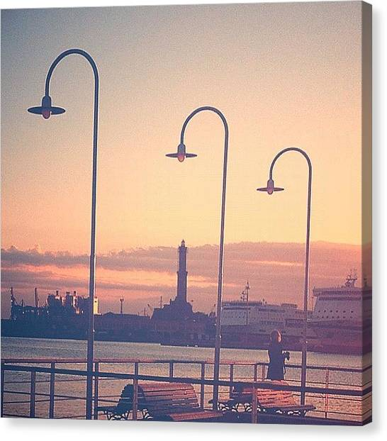 Ocean Sunsets Canvas Print - #statigram #italy #travel #graceland25 by A Rey