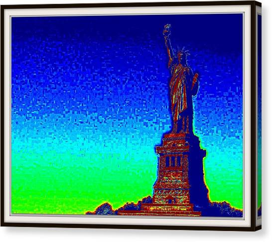 Statue Of Liberty-3 Canvas Print by Anand Swaroop Manchiraju