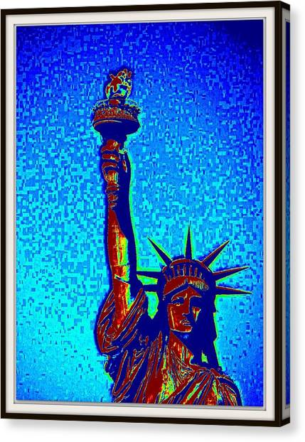 Statue Of Liberty-4 Canvas Print by Anand Swaroop Manchiraju