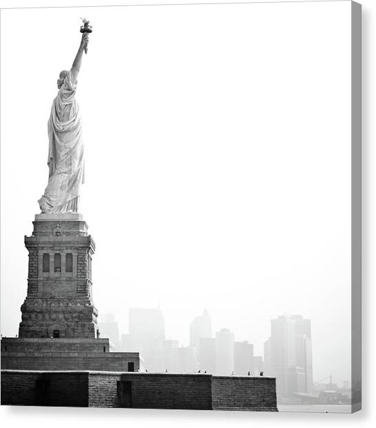 Central Park Canvas Print - Statue Of Liberty by Image - Natasha Maiolo