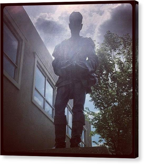 Saints Canvas Print - #statue Of #saint #albert St Albert by Eric Dick