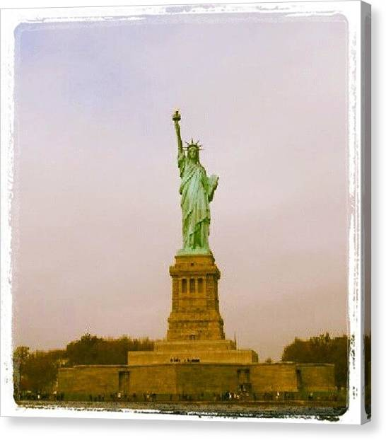 Statue Of Liberty Canvas Print - Statute Of Liberty by Lynda Larbi
