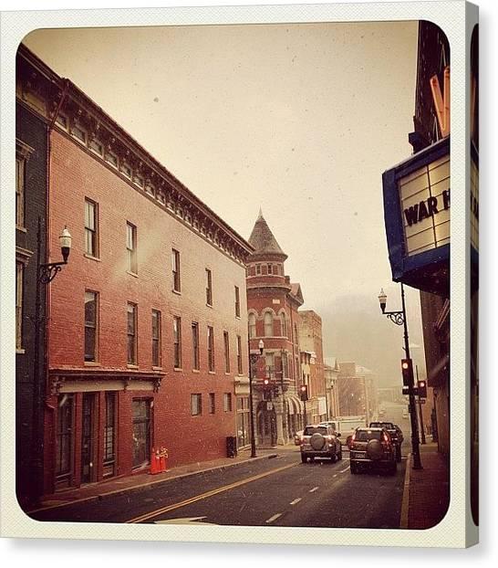 Virginia Canvas Print - Staunton Downtown by Manan Shah