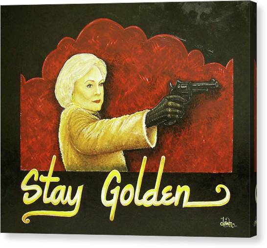 Stay Golden Canvas Print by Matthew Powell