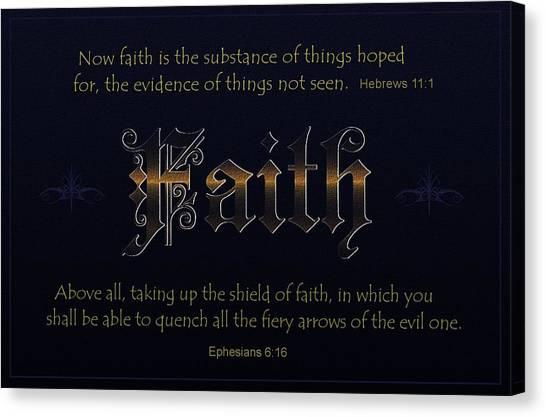 Steadfast Faith Canvas Print by Greg Long