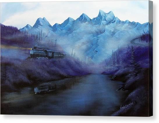 Steam  Smoke And Mist Canvas Print by Verna Coy