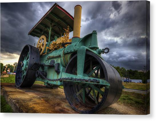 Steam Tractor Canvas Print - Steam Tractor by Eric Gendron
