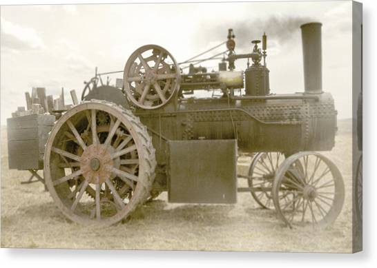 Steam Tractor Canvas Print by Kevin Felts