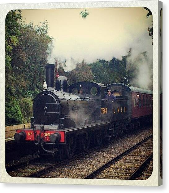 Steam Trains Canvas Print - Steam Train by Daren Leonard