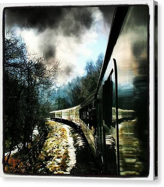 Steam Trains Canvas Print - Steam Train Ride @nymr #north by Pete Carr