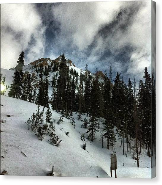 Snowboarding Canvas Print - #steamboat #pow #spring by //m Graff