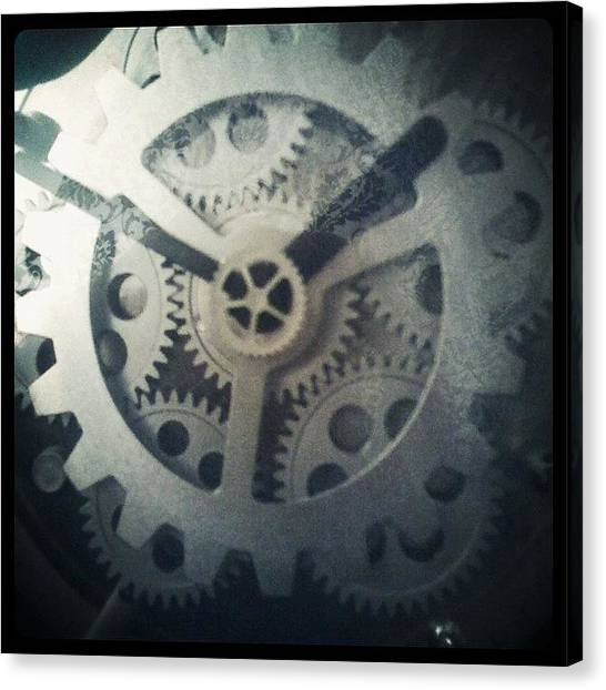 Steampunk Canvas Print - #steampunk #gears #clock #webstagram by KLH Streets Photography