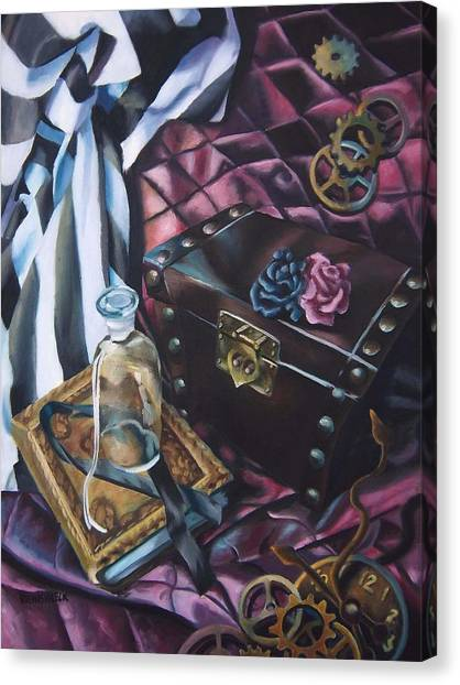Steampunk Still Life Canvas Print by Lori Keilwitz