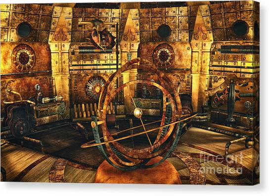 Steampunk Time Lab Canvas Print