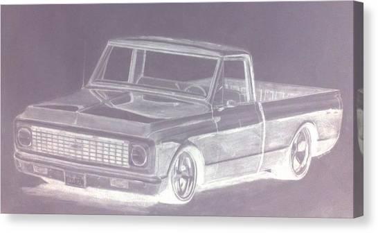 Steel 72 Canvas Print by Bradley   Howell