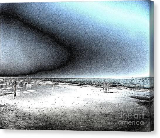 Steel Beach Canvas Print