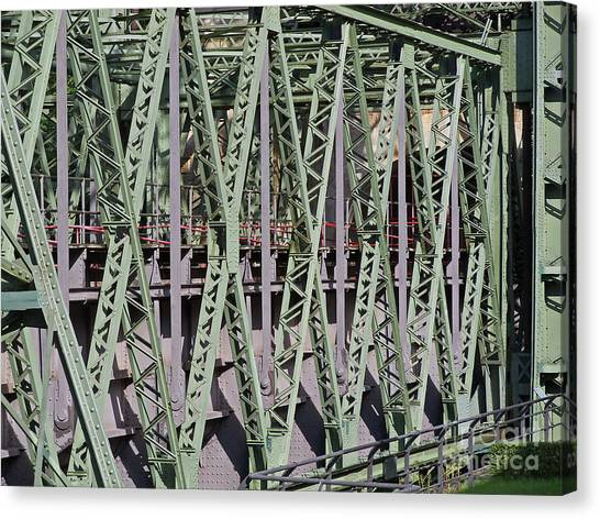 Steel Construction Canvas Print