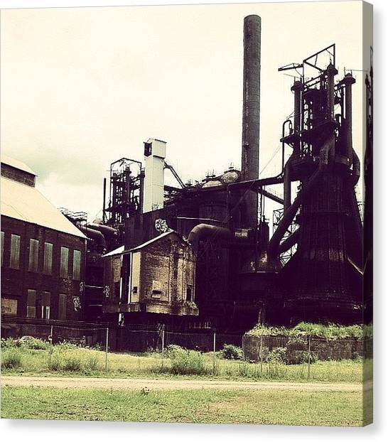 Warehouses Canvas Print - Steel Mill by RJ Kozain