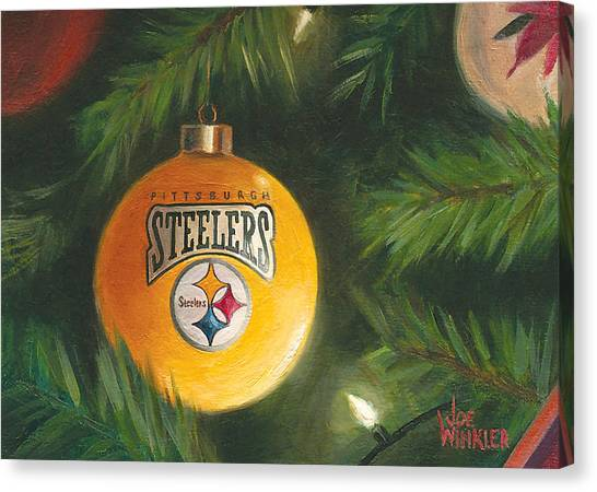 Steelers Ornament Canvas Print