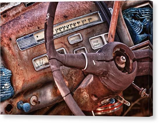 Steering Wheel Canvas Print by Richard Steinberger