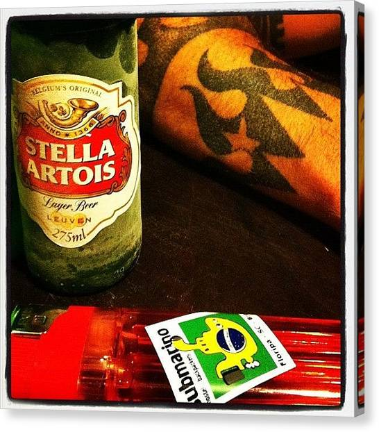 Tattoo Canvas Print - #stellaartois #submarinohostel by Avatar Pics