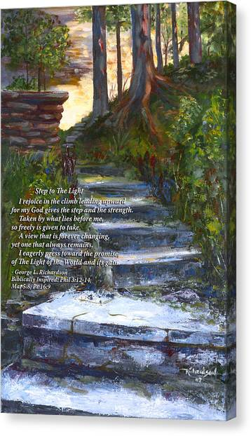 Step To The Light With Poem Canvas Print