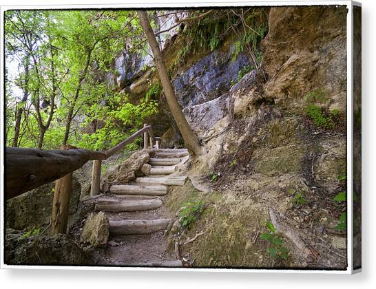 Steps To The Cave Canvas Print