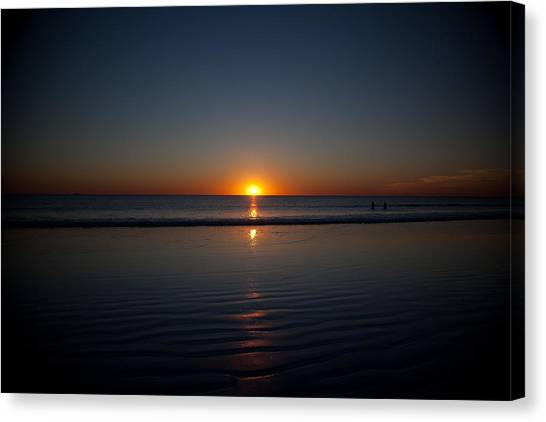 Steps To The Setting Sun Canvas Print