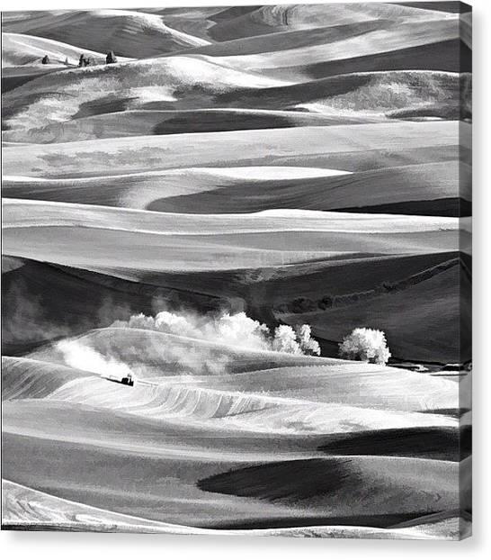 Tractors Canvas Print - Steptoe Bw by Felice Willat