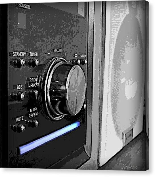 Hips Canvas Print - Stereo. #stereo #sound #music #boombox by Jess Gowan