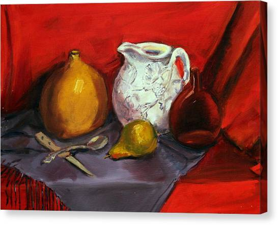 Still Life In Red Canvas Print