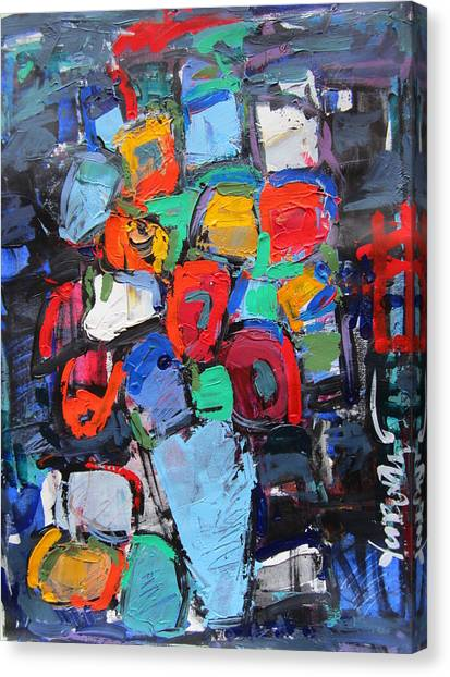 Still Life On Dark 05 Canvas Print