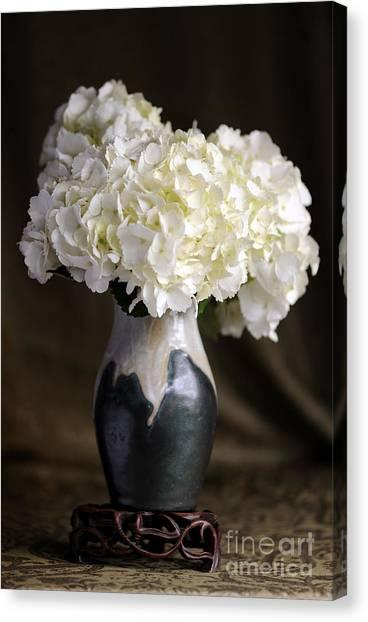 Still Life Vase With Hydrangeas Canvas Print