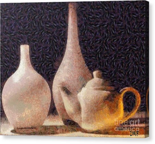 Ceramics Canvas Print - Still Life- Vases by Dragica  Micki Fortuna
