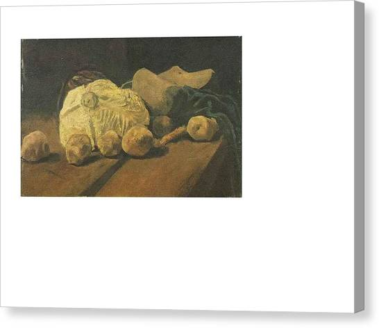 Inspired By Van Gogh Canvas Print - Still Life With Cabbage And Clogs by Van Gogh