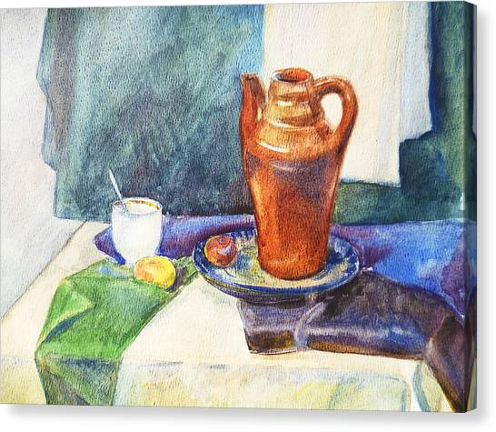 Academic Art Canvas Print - Still Life With Cup And Coffeepot  by Irina Sztukowski