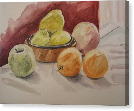 Still Life With Fruits Canvas Print by Kate Partali