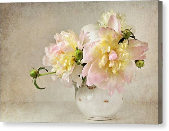 Still Life With Peonies Canvas Print
