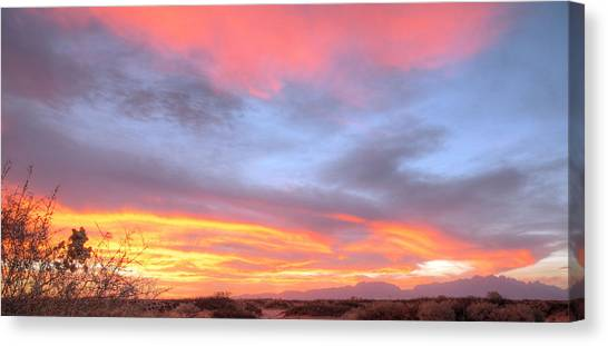 Stirring Paint Canvas Print by JC Findley