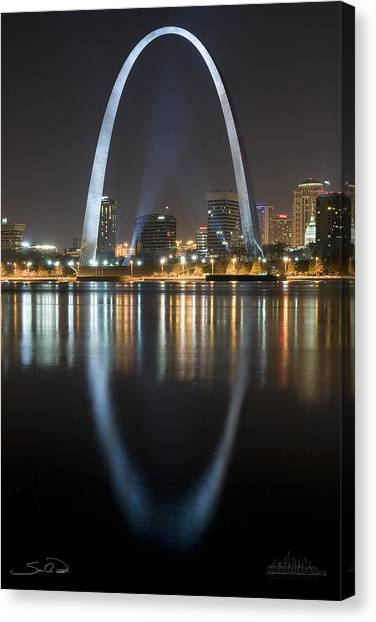 St.louis Arch Reflection Canvas Print