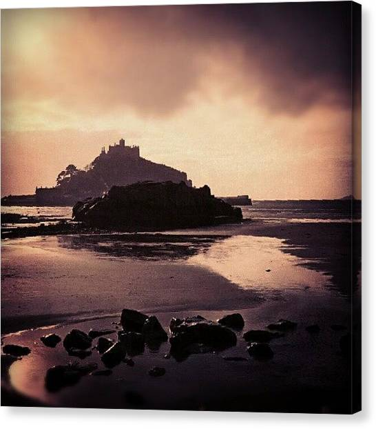 Sand Castles Canvas Print - #stmichael #mount, #cornwall by Alexandra Cook