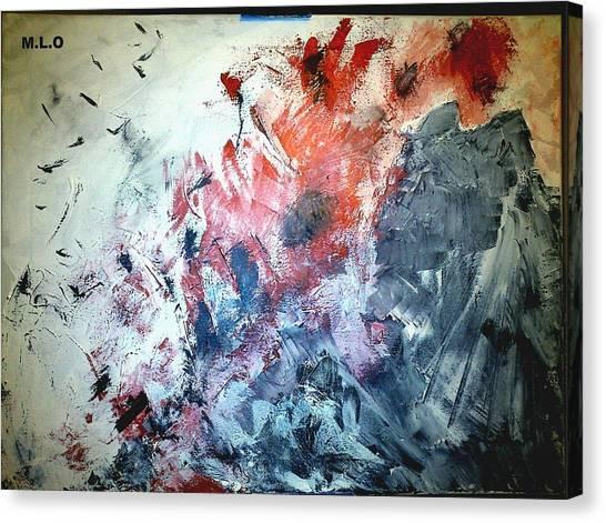 Stolen Kisses Canvas Print by Montserrat Lopez Ortiz