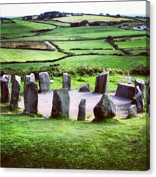 Ireland Canvas Print - Stone Circle by Luisa Azzolini