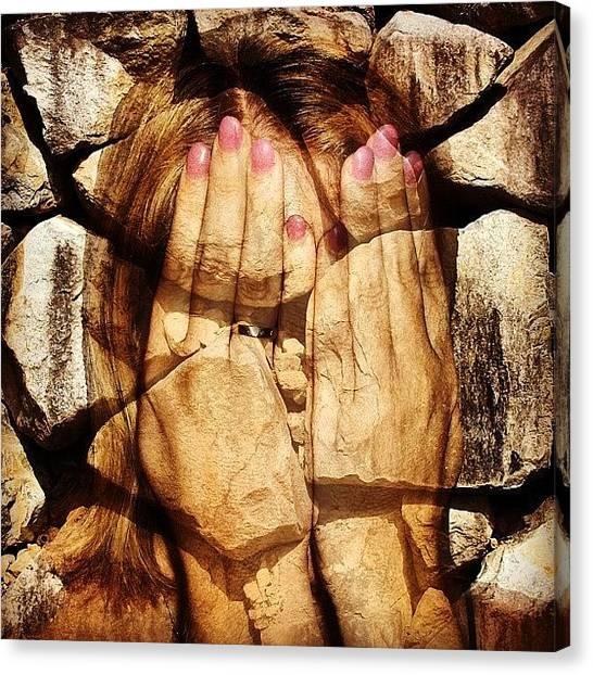 Girl Canvas Print - Stone Face by Cameron Bentley