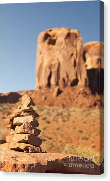 Peace Tower Canvas Print - Stone Stack. by Jane Rix