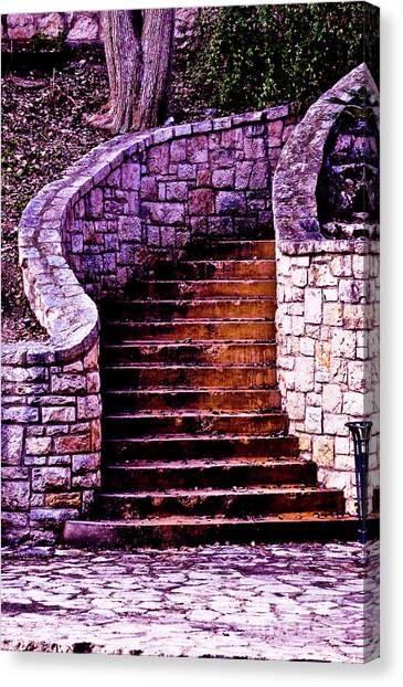 Stone Staircase Canvas Print